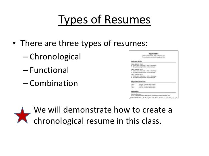 Types Of Resumesu2022 There Are Three ...  Three Types Of Resumes
