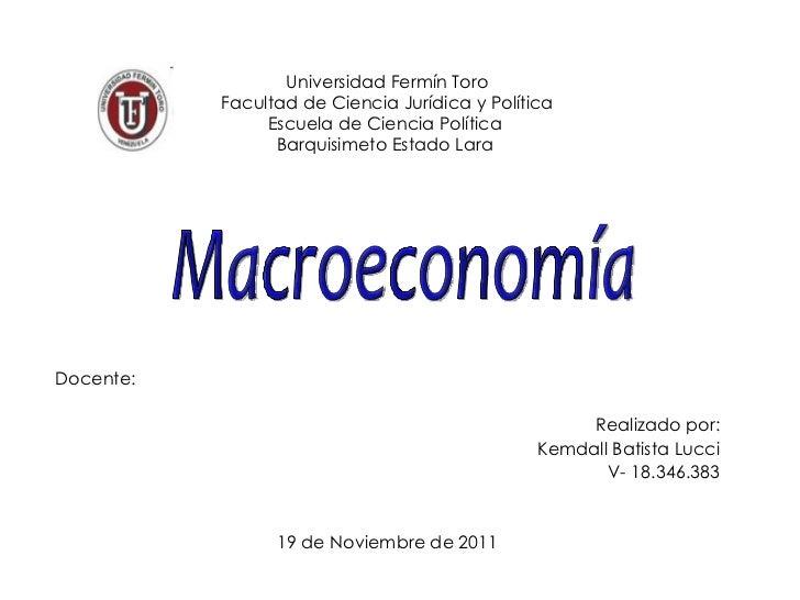 Universidad Fermín Toro Facultad de Ciencia Jurídica y Política Escuela de Ciencia Política  Barquisimeto Estado Lara  Doc...