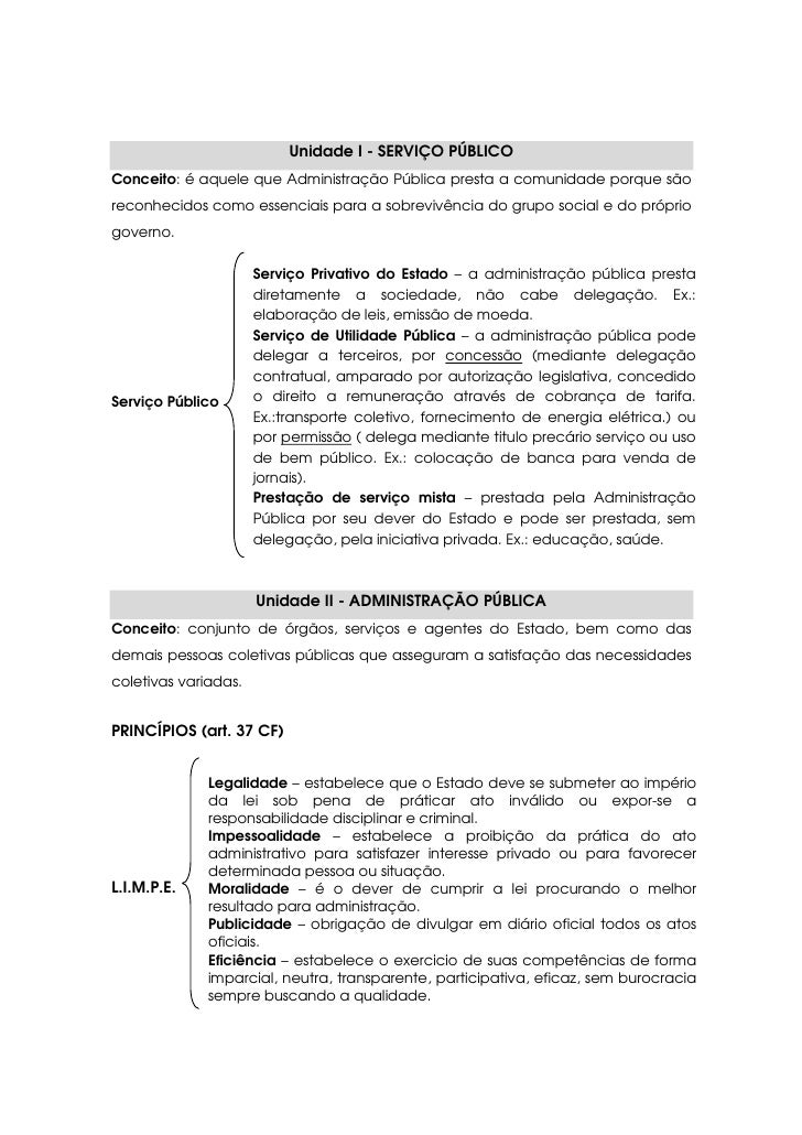Unidade I - SERVIÇO PÚBLICO Conceito: é aquele que Administração Pública presta a comunidade porque são reconhecidos como ...