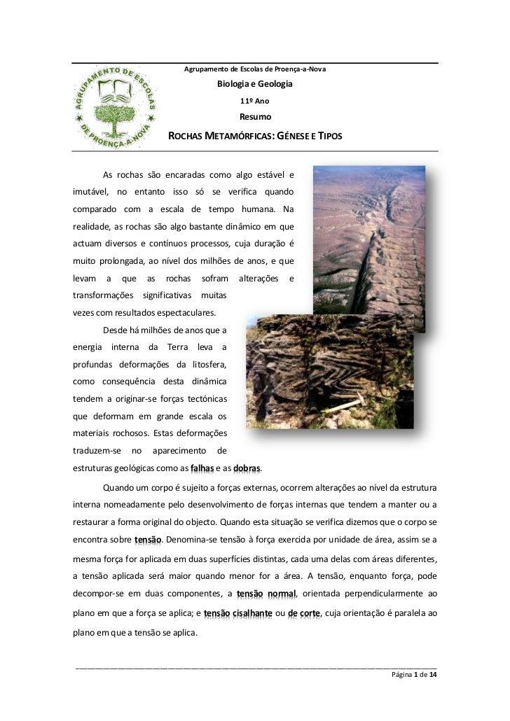 Agrupamento de Escolas de Proença-a-Nova                                             Biologia e Geologia                  ...
