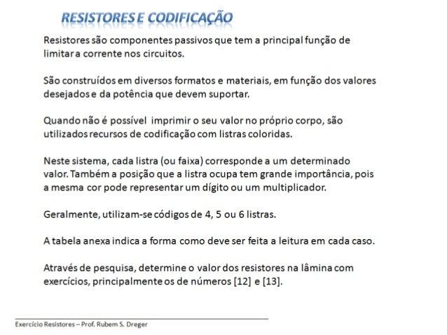 Resumo cod-resistor