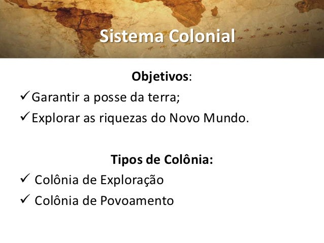 Colonização da América Slide 2