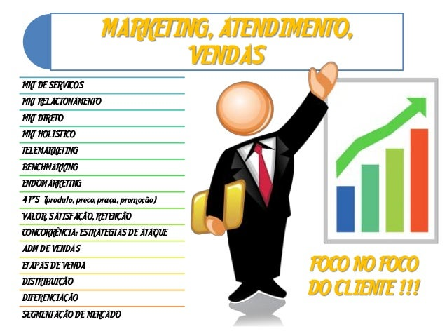 MARKETING, ATENDIMENTO,VENDASMKT DE SERVIÇOSMKT RELACIONAMENTOMKT DIRETOMKT HOLISTICOTELEMARKETINGBENCHMARKINGENDOMARKETIN...