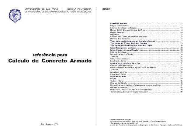 referência para Cálculo de Concreto Armado Conceitos Básicos Cargas Características Esforços Solicitantes e Reações Regras...
