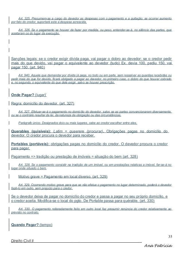 Art. 325. Presumem-se a cargo do devedor as despesas com o pagamento e a quitação; se ocorrer aumento por fato do credor, ...