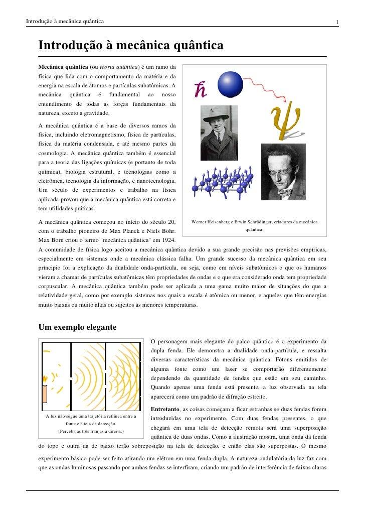 Resumo fisica quantica