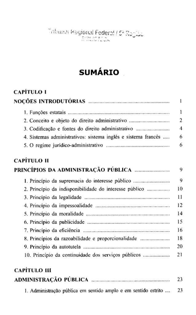 Resumo de direito administrativo descomplicado sumario