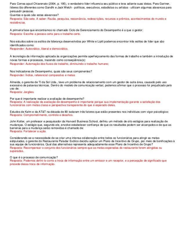Resumo de estudos Competências Gerenciais