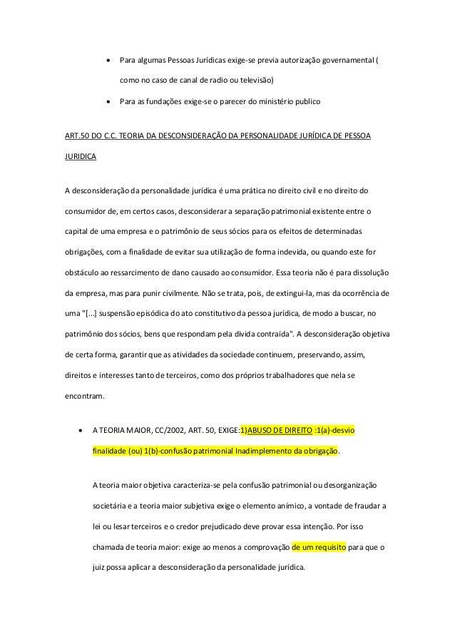  Para algumas Pessoas Jurídicas exige-se previa autorização governamental ( como no caso de canal de radio ou televisão) ...