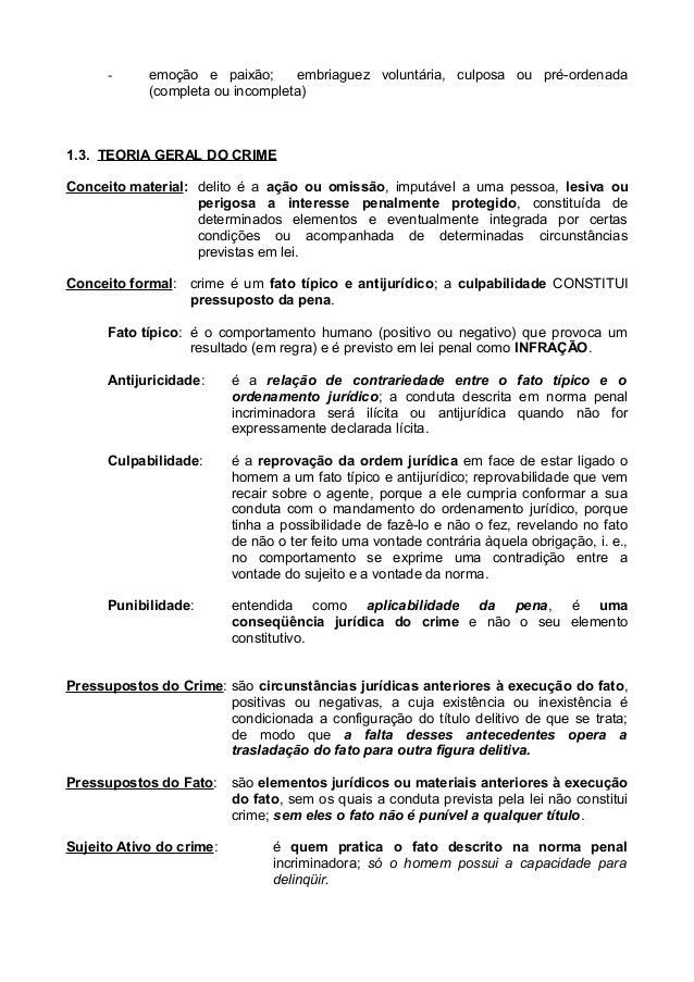 Resumão direito penal- parte geral
