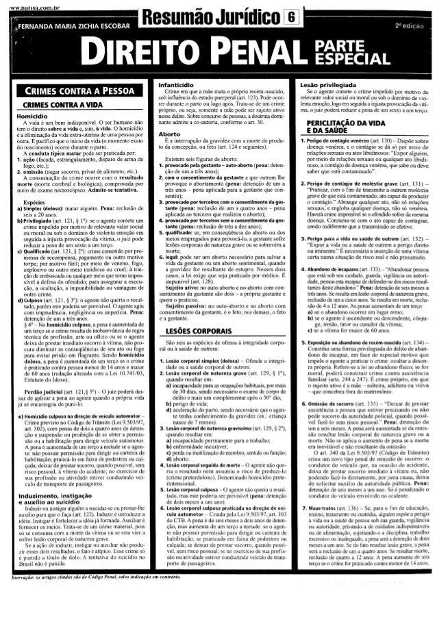 Resumão direito penal especial