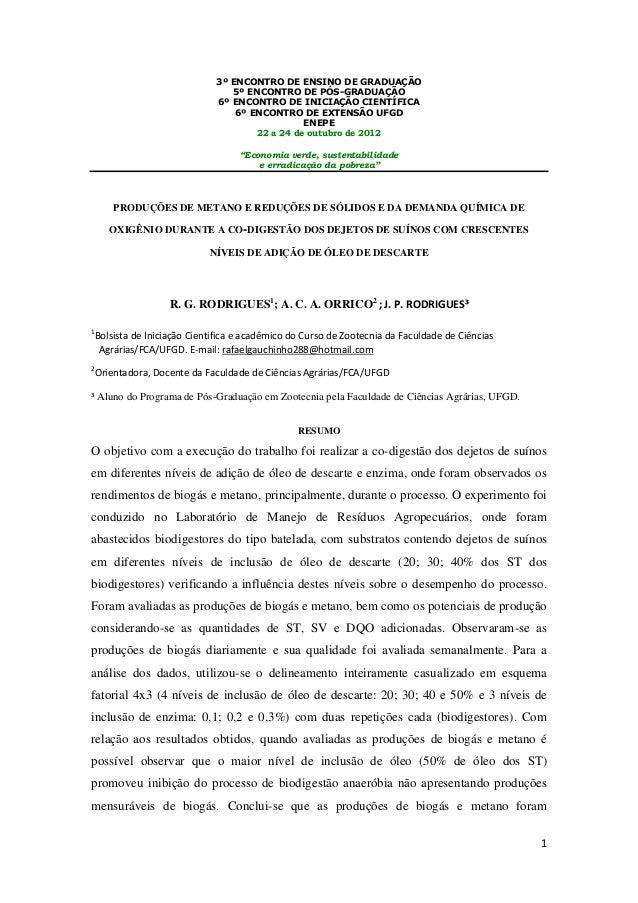 1 3º ENCONTRO DE ENSINO DE GRADUAÇÃO 5º ENCONTRO DE PÓS-GRADUAÇÃO 6º ENCONTRO DE INICIAÇÃO CIENTÍFICA 6º ENCONTRO DE EXTEN...