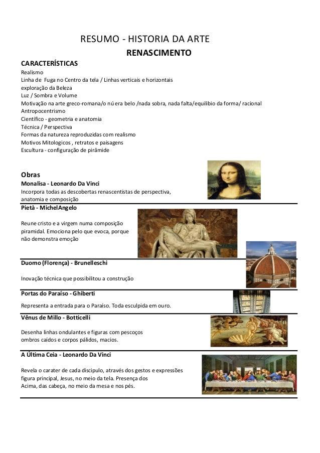Motivação na arte greco-romana/o nú era belo /nada sobra, nada falta/equilibio da forma/ racional RESUMO - HISTORIA DA ART...