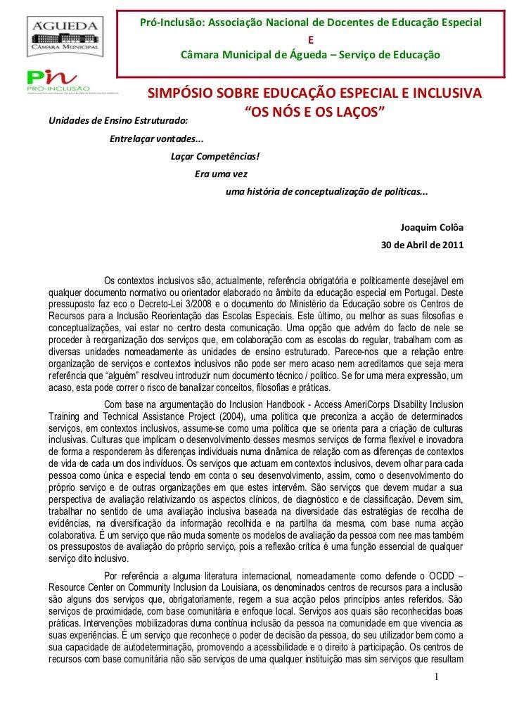 Pró-Inclusão: Associação Nacional de Docentes de Educação Especial                                                        ...