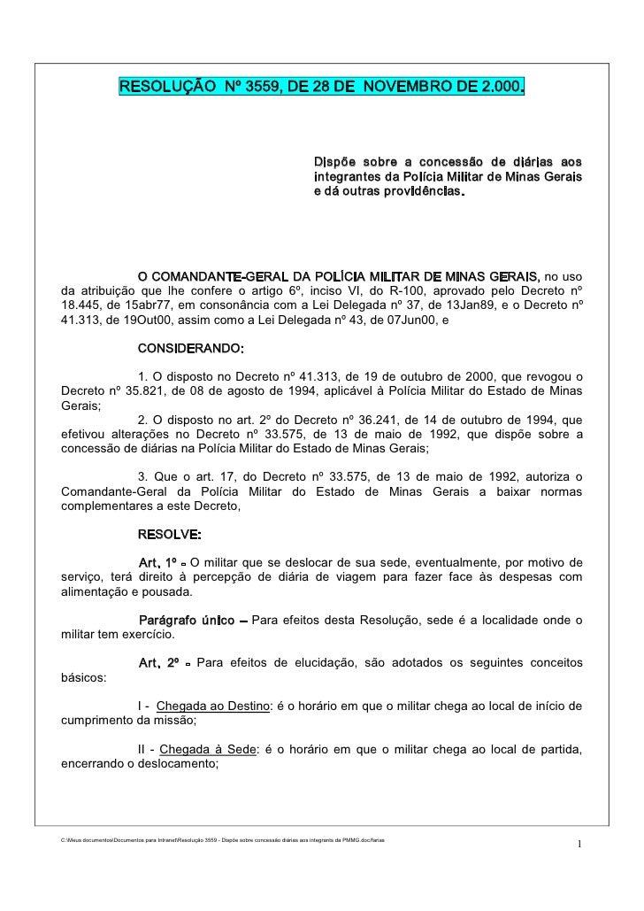 RESOLUÇÃO Nº 3559, DE 28 DE NOVEMBRO DE 2.000.                                                                            ...