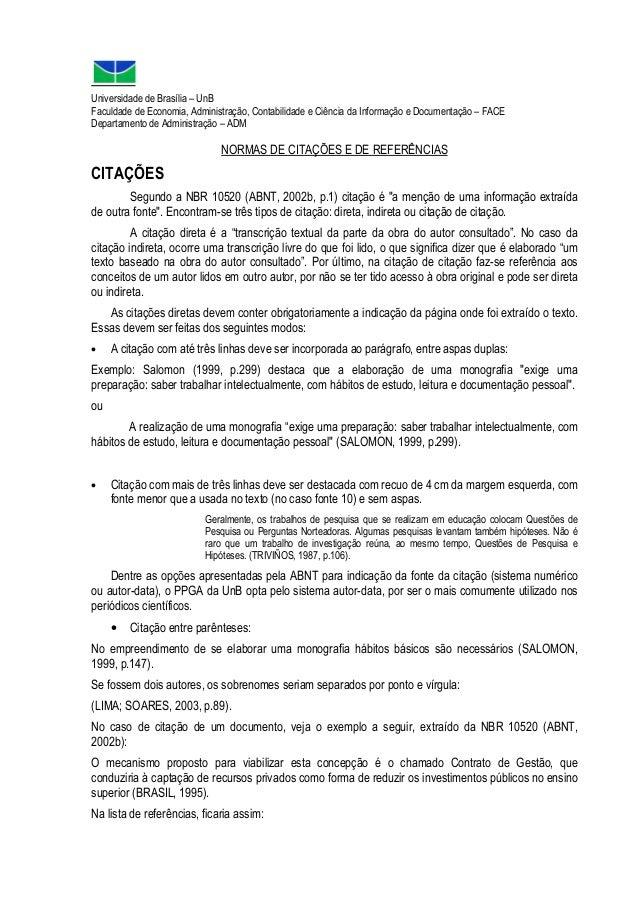 Universidade de Brasília – UnB Faculdade de Economia, Administração, Contabilidade e Ciência da Informação e Documentação ...