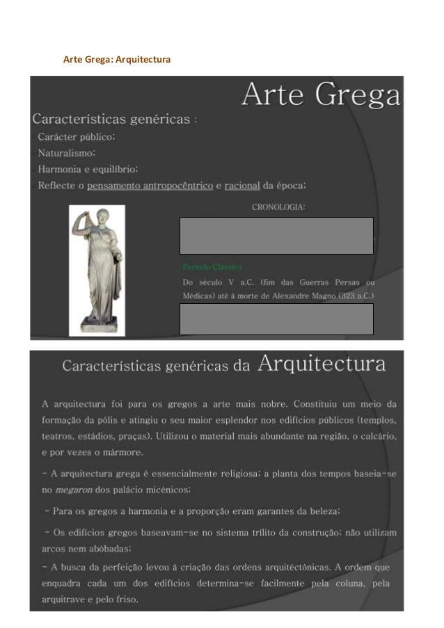 Arte Grega: Arquitectura