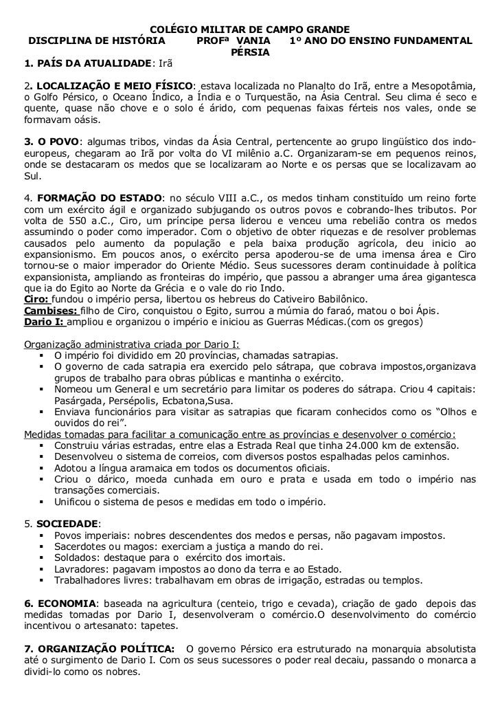 COLÉGIO MILITAR DE CAMPO GRANDE DISCIPLINA DE HISTÓRIA     PROFª VANIA    1º ANO DO ENSINO FUNDAMENTAL                    ...