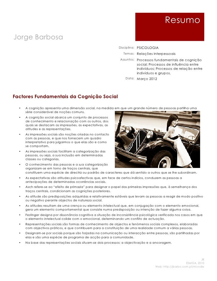 ResumoJorge Barbosa                                                                 Disciplina: PSICOLOGIA                ...