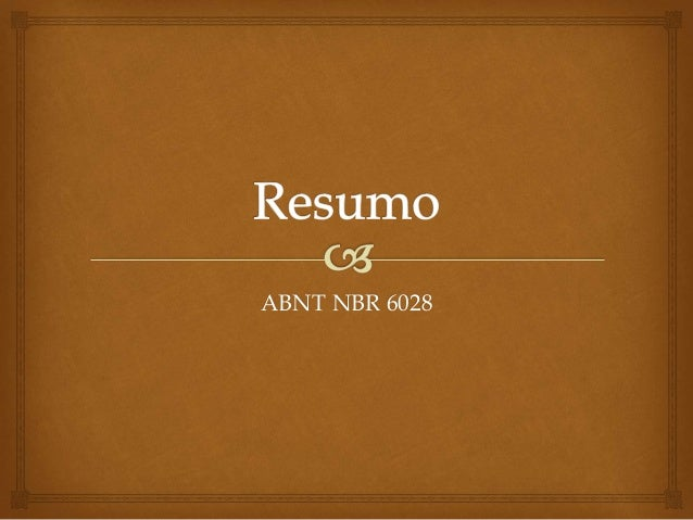 ABNT NBR 6028