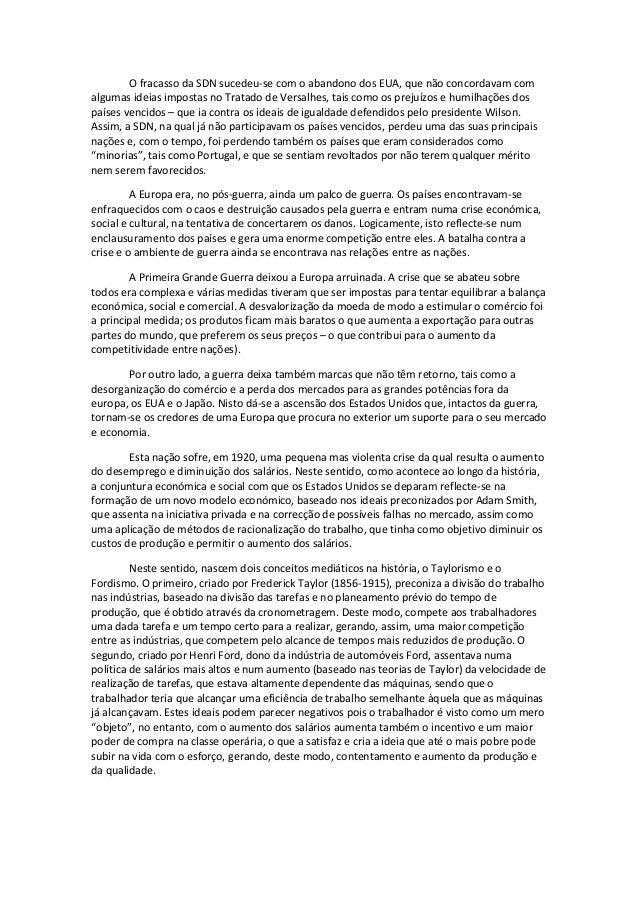Resumos de História 12ºano - Preparação para exame Slide 2