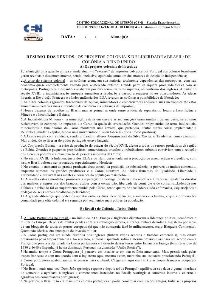CENTRO EDUCACIONAL DE NITERÓI (CEN) – Escola Experimental                                       DESDE 1960 FAZENDO A DIFER...
