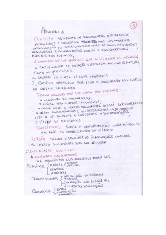 """Resumo sobre arquivologia """"Livro Arquivo Teoria e prática"""""""