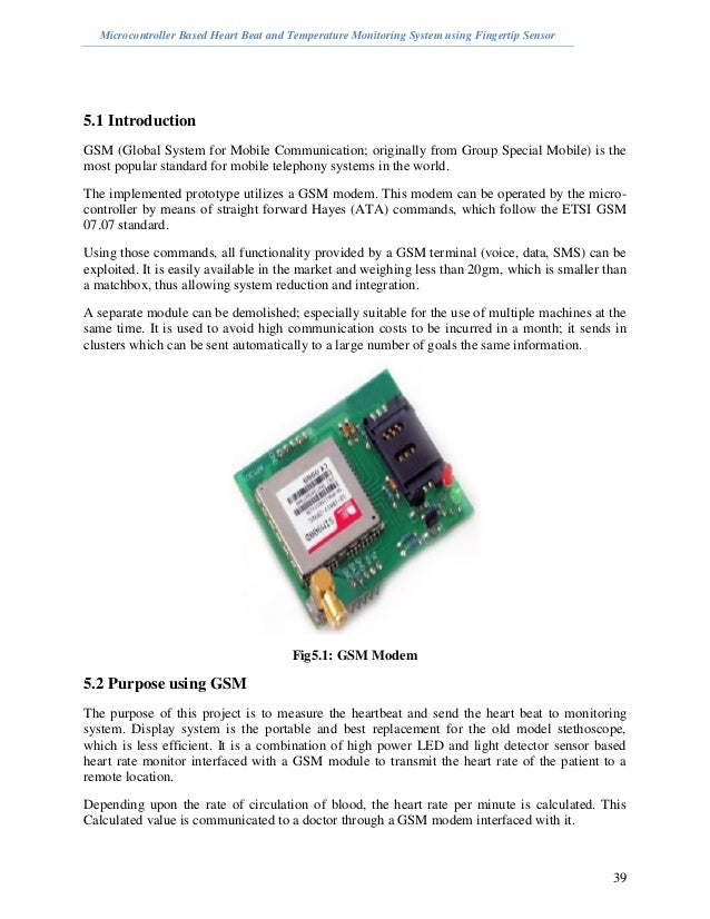 Microcontroller Based Heart Beat and Temperature Monitoring System us…