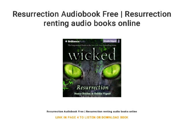 wicked resurrection holder nancy viguie debbie