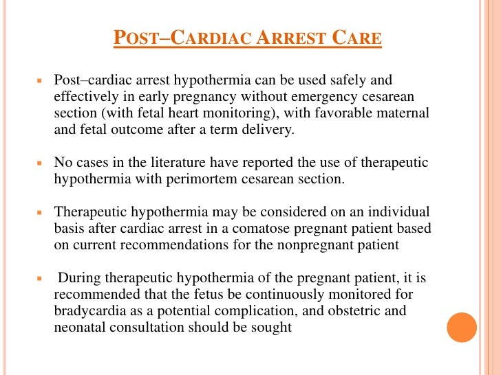 Therapeutic Hypothermia Following Cardiac Arrest Essay Sample