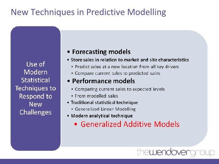 New Techniques in Predictive Modelling