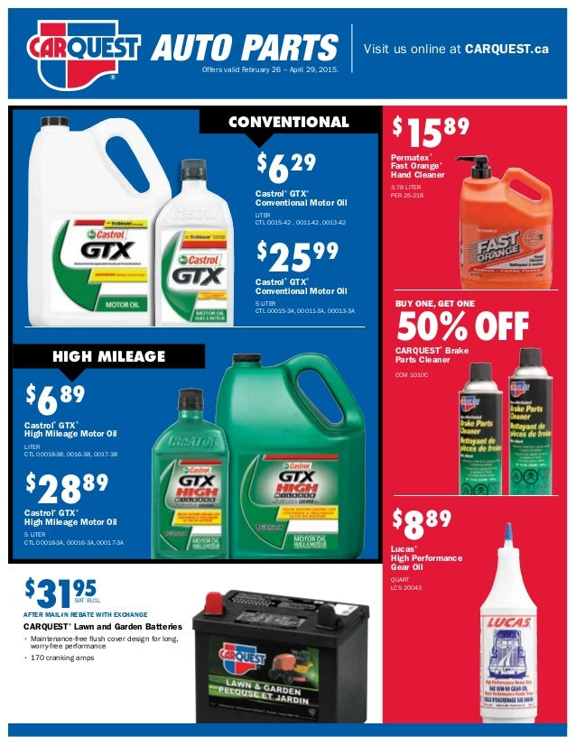 Carquest Auto Parts Near Me >> Carquest Auto Parts Retail Flyer Canada February 26 To