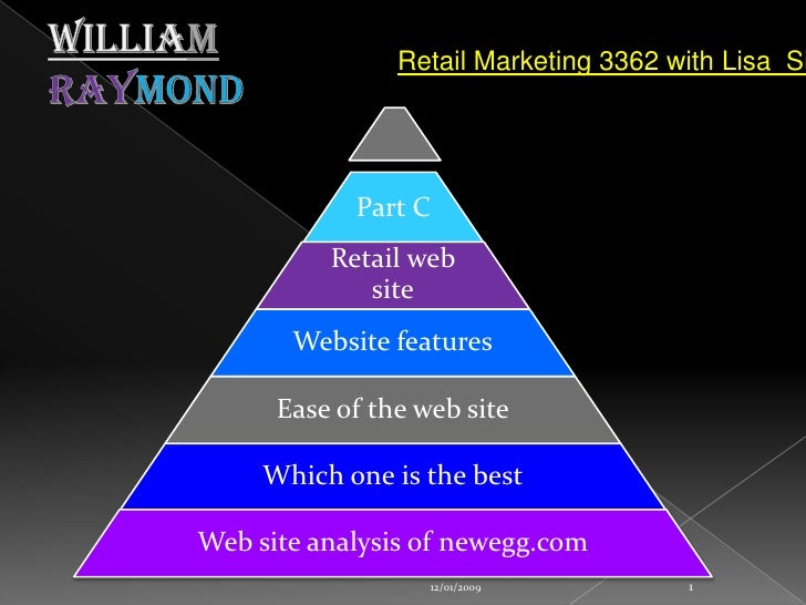 WilliamRaymond<br />12/01/2009<br />1<br />Retail Marketing 3362 with Lisa  Siegal<br />