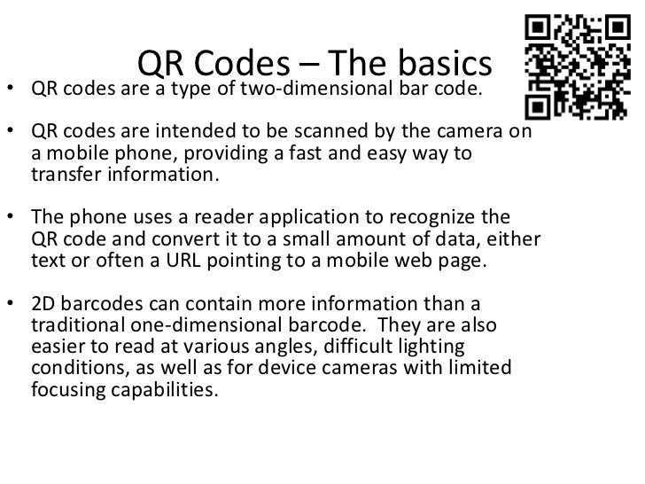 QR Codes - Transforming the Retail Experience Slide 2
