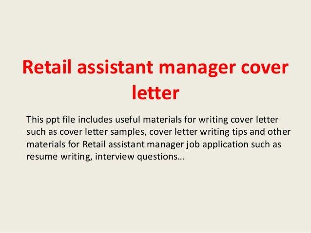 assistant manager cover letter samples