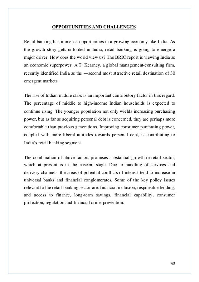 thesis on retail banking in india