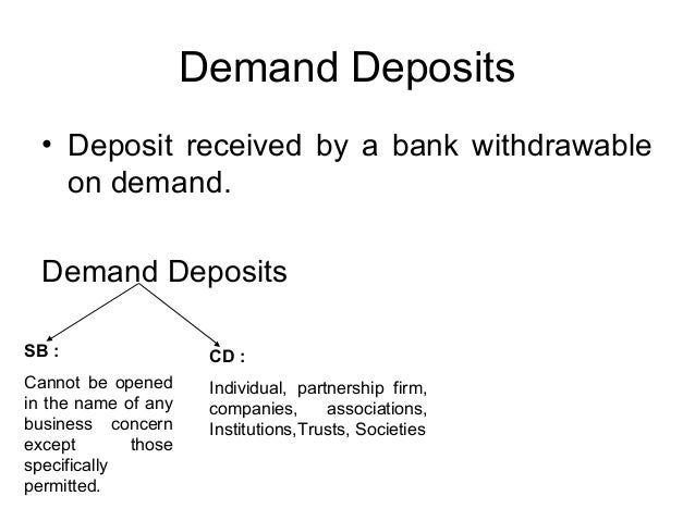 how to find demand deposits