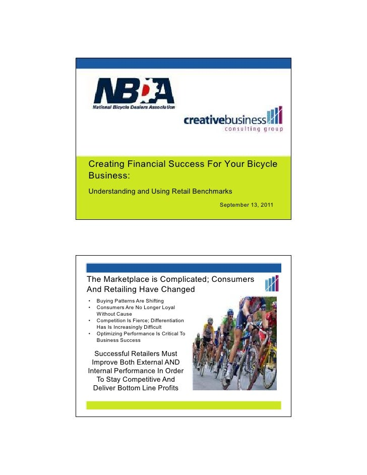 Creating Financial Success For Your BicycleBusiness:Understanding and Using Retail Benchmarks                             ...