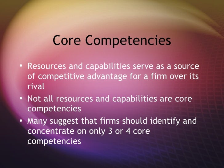 Personal Attributes and Core Competencies