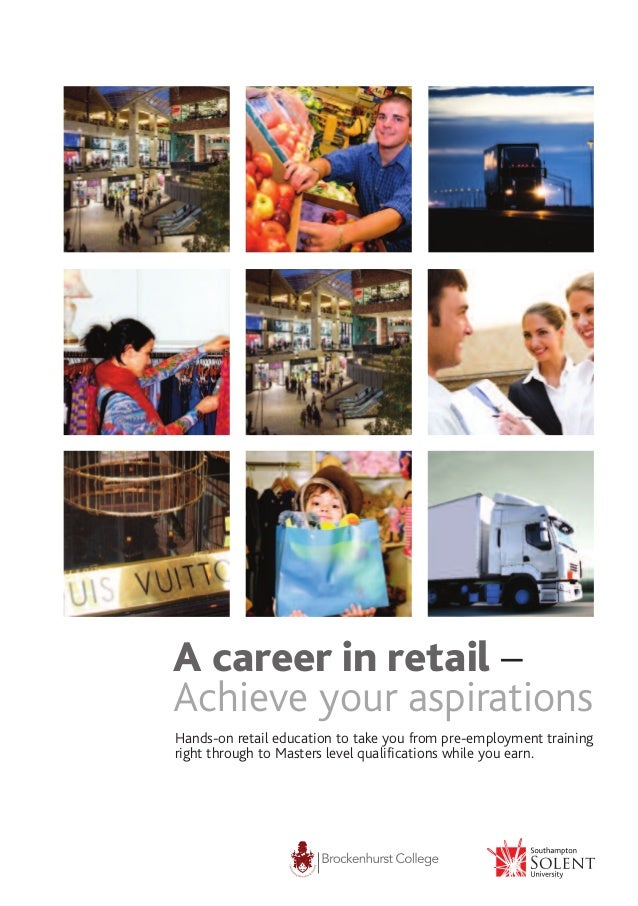 A career in retail – Achieve your aspirations Hands-on retail education to take you from pre-employment training right thr...