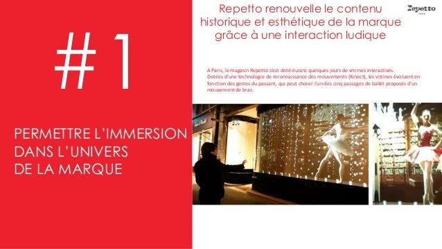 Repetto renouvelle le contenu historique et esthétique de la marque grâce à une interaction ludique #1 A Paris, le magasin...