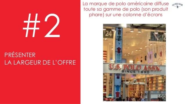 La marque de polo américaine diffuse toute sa gamme de polo (son produit phare) sur une colonne d'écrans #2 New York PRÉSE...