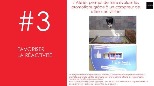 L'Atelier permet de faire évoluer les promotions grâce à un compteur de « like » en vitrine #3 Le magasin textile indépend...