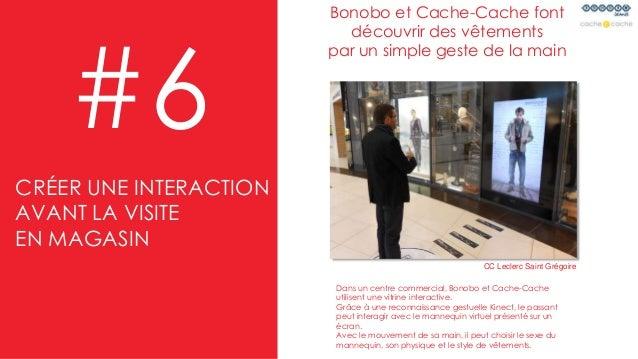 Bonobo et Cache-Cache font découvrir des vêtements par un simple geste de la main #6 Dans un centre commercial, Bonobo et ...