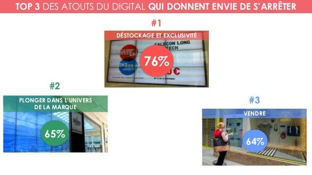 DÉSTOCKAGE ET EXCLUSIVITÉ PLONGER DANS L'UNIVERS DE LA MARQUE VENDRE 76% #1 #2 65% #3 64% TOP 3 DES ATOUTS DU DIGITAL QUI ...