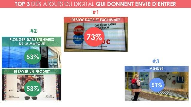DÉSTOCKAGE ET EXCLUSIVITÉ PLONGER DANS L'UNIVERS DE LA MARQUE VENDRE 73% #1 #2 53% #3 51% TOP 3 DES ATOUTS DU DIGITAL QUI ...