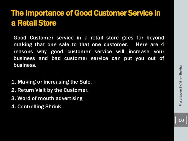Importance of good customer service skills