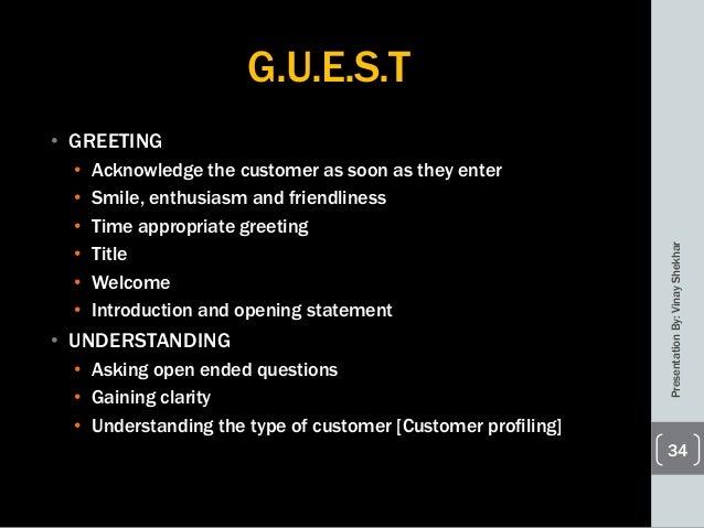 Retail customer service presentationbyvinayshekhar 33 34 guest greeting acknowledge the customer m4hsunfo