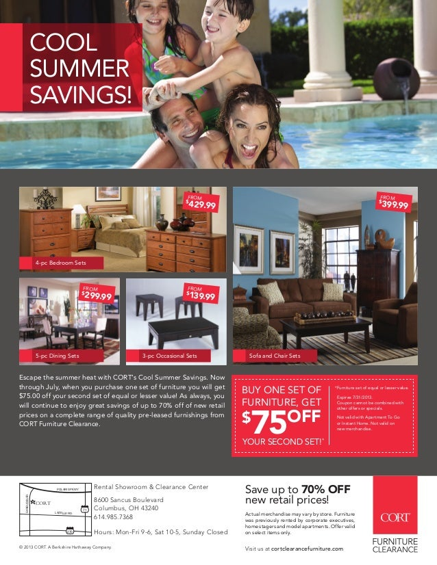 Escape The Summer Heat With CORTu0027s Cool Summer Savings. Now Through July,  When You