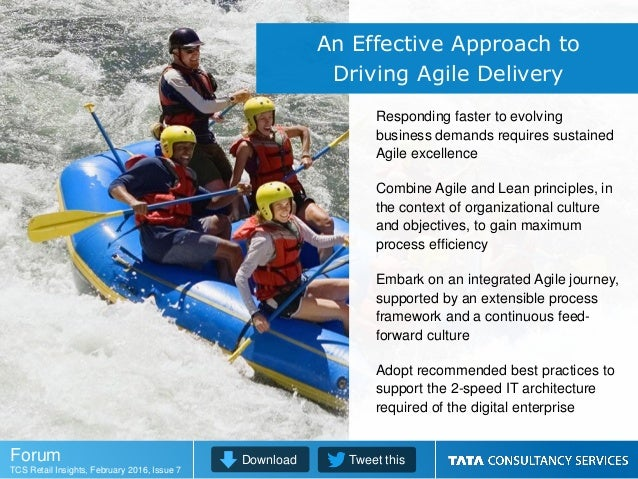 Responding faster to evolving business demands requires sustained Agile excellence Combine Agile and Lean principles, in t...